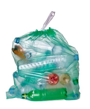 Busta con rifiuti plastica
