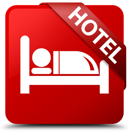 66296014 - hotel red square button