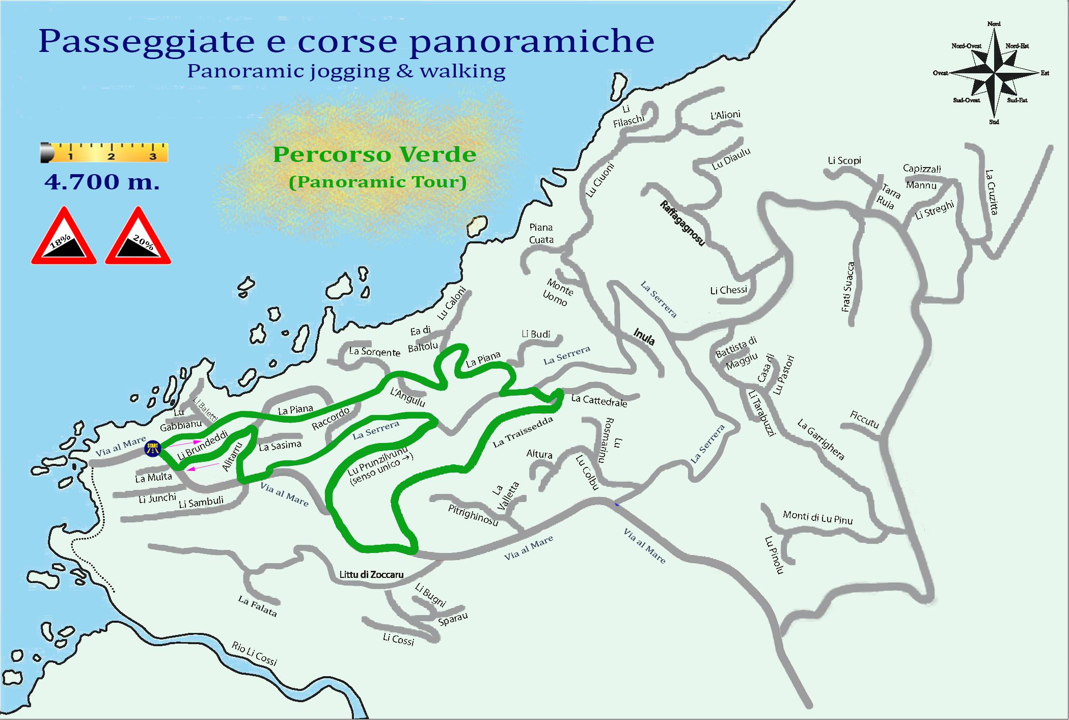 Territorio costa paradiso progetto jogging 3