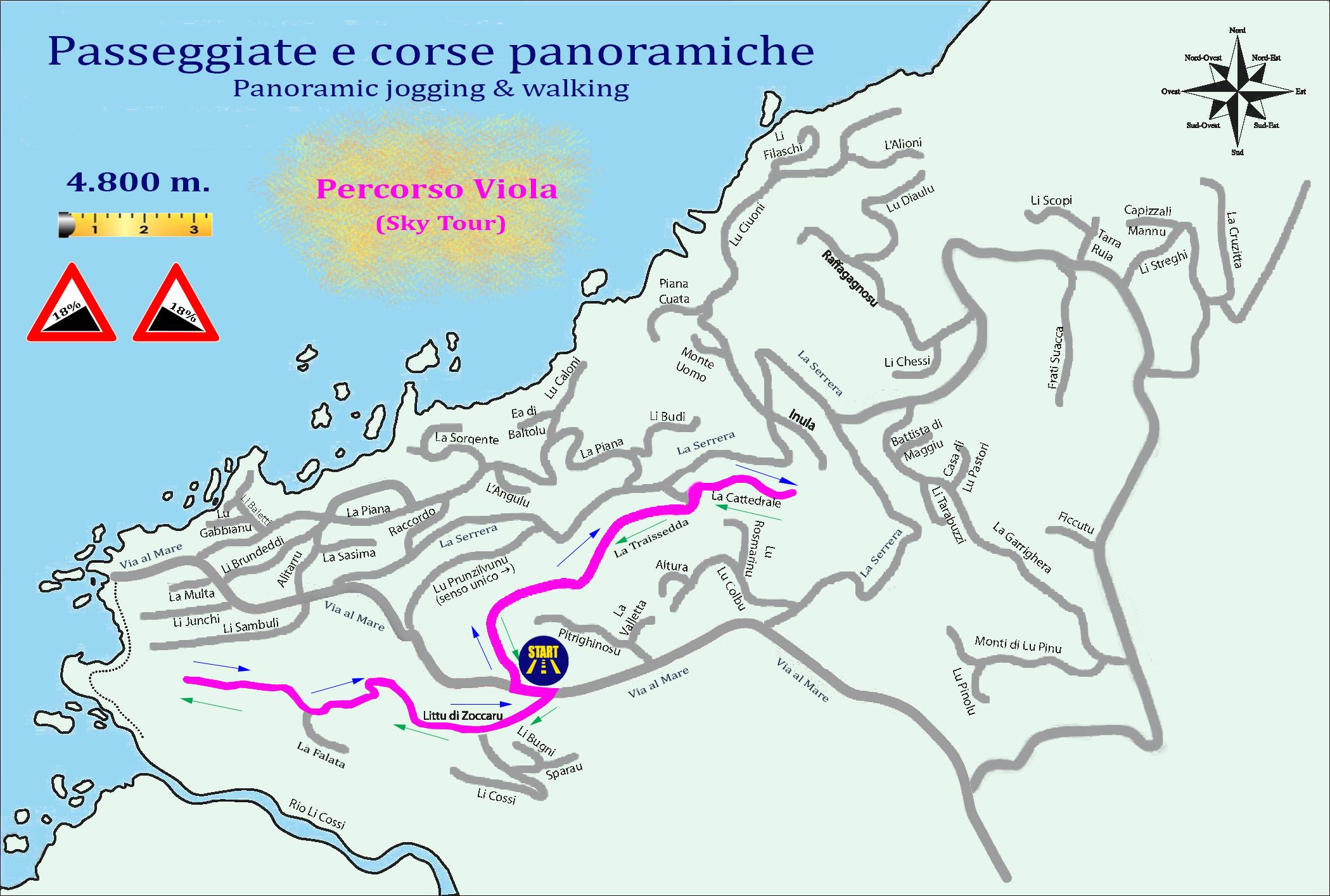 Territorio costa paradiso progetto jogging 5