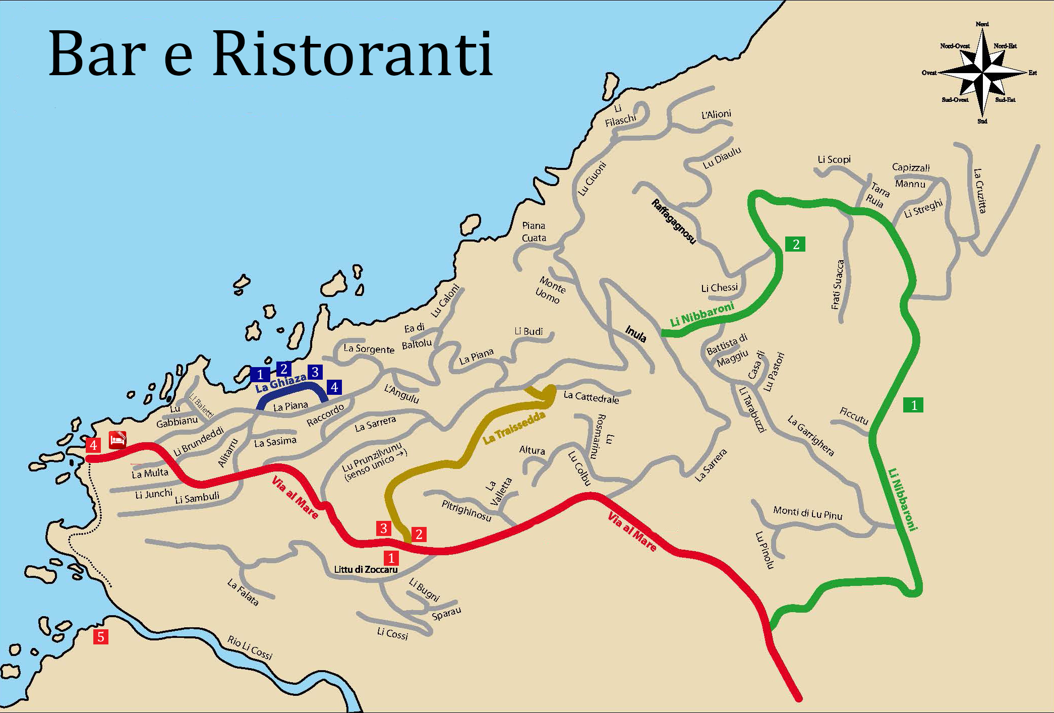 Territorio costa paradiso mappe 1