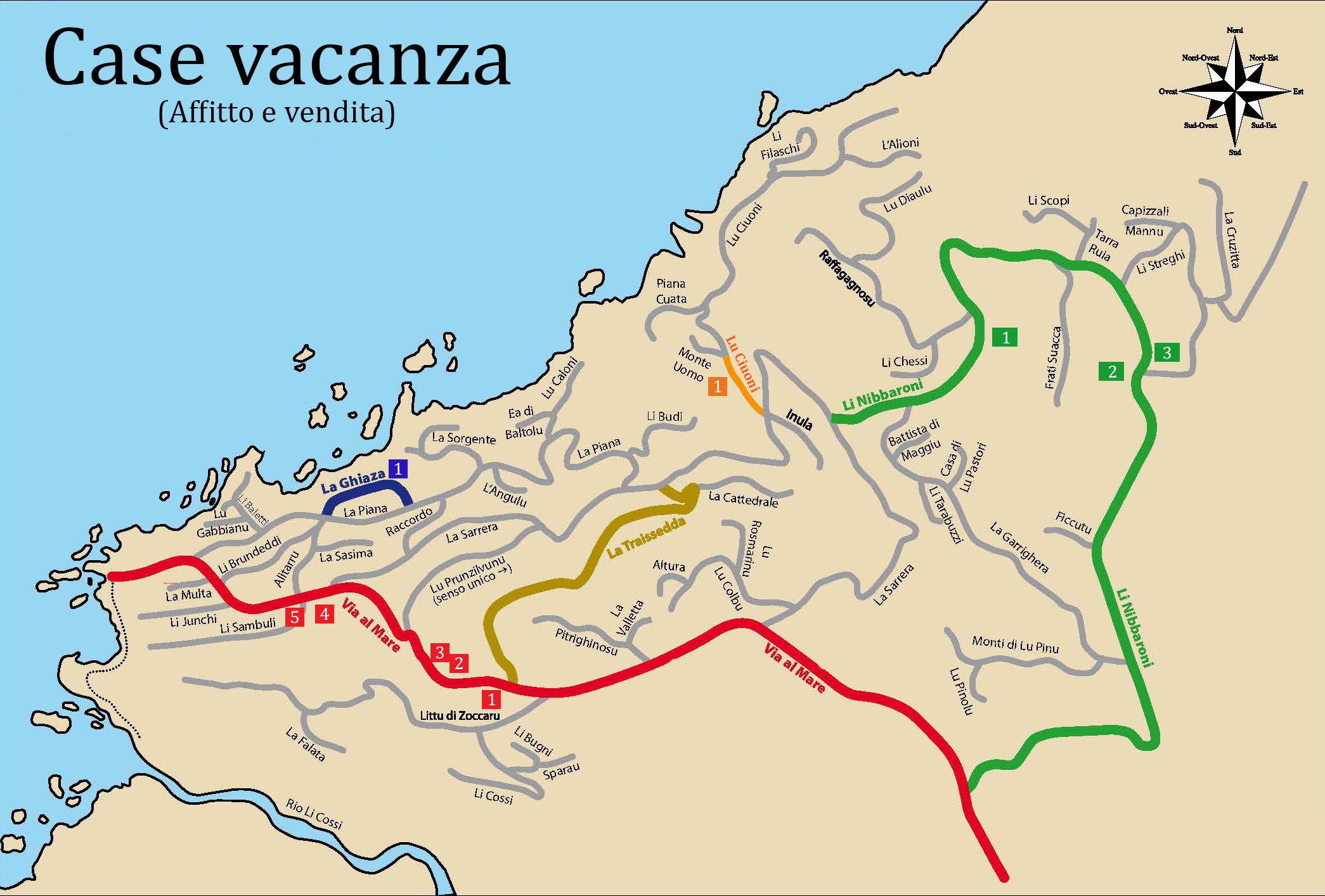 Territorio costa paradiso mappe 2