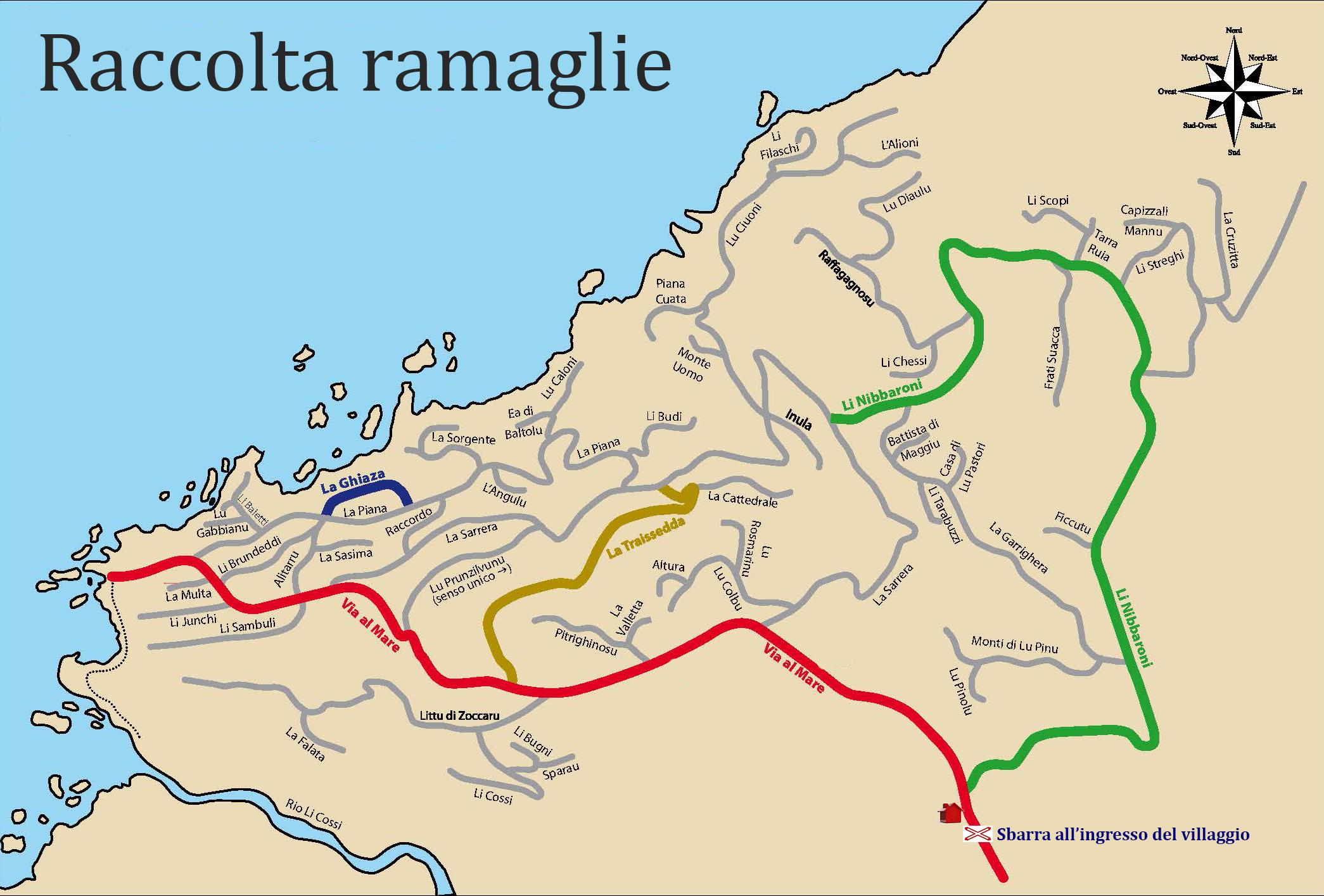 Territorio costa paradiso mappe